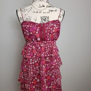 American Eagle Tiered Floral Sundress 10